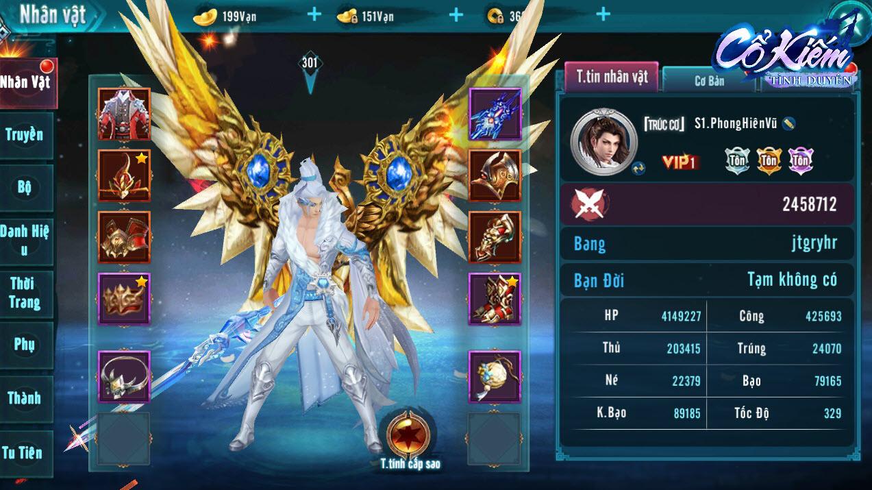 """Thời trang của Cổ Kiếm Tình Duyên đa dạng và cực """"ngầu"""", giúp người chơi thể hiện được vị thế của mình trong server"""