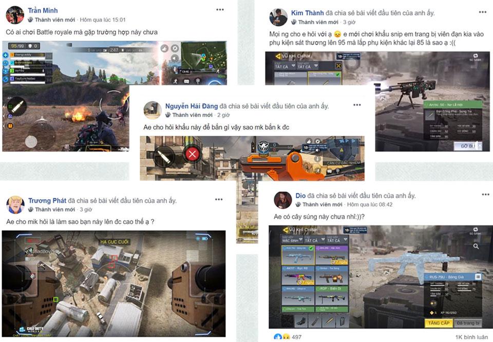 Từ câu hỏi đơn giản nhất đến những dòng comment-bình luận đều được game thủ thoải mái đăng tải trong hội nhóm của trò chơi
