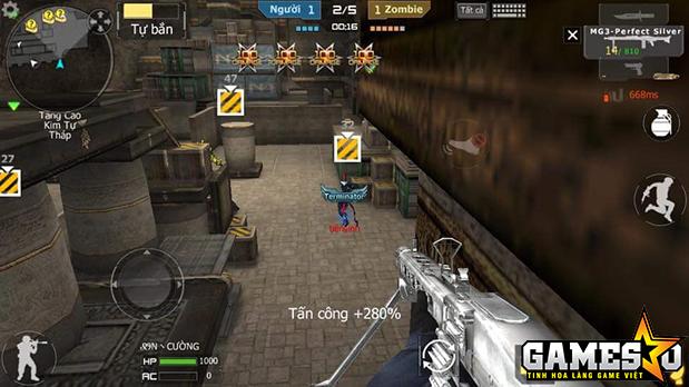 Ping 668ms khi một người chơi tham gia một màn chơi zombie trong bản đồ Hoàng Lăng