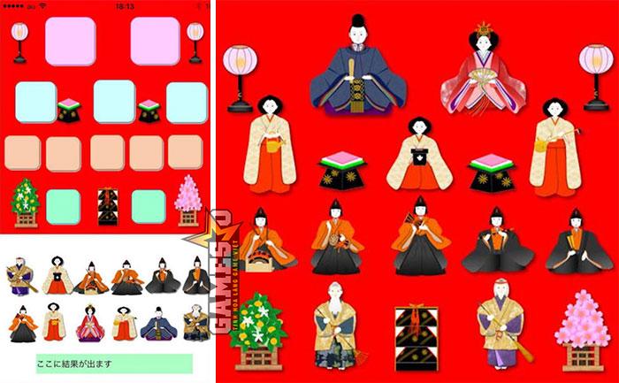 Giao diện trò chơi Hinadan