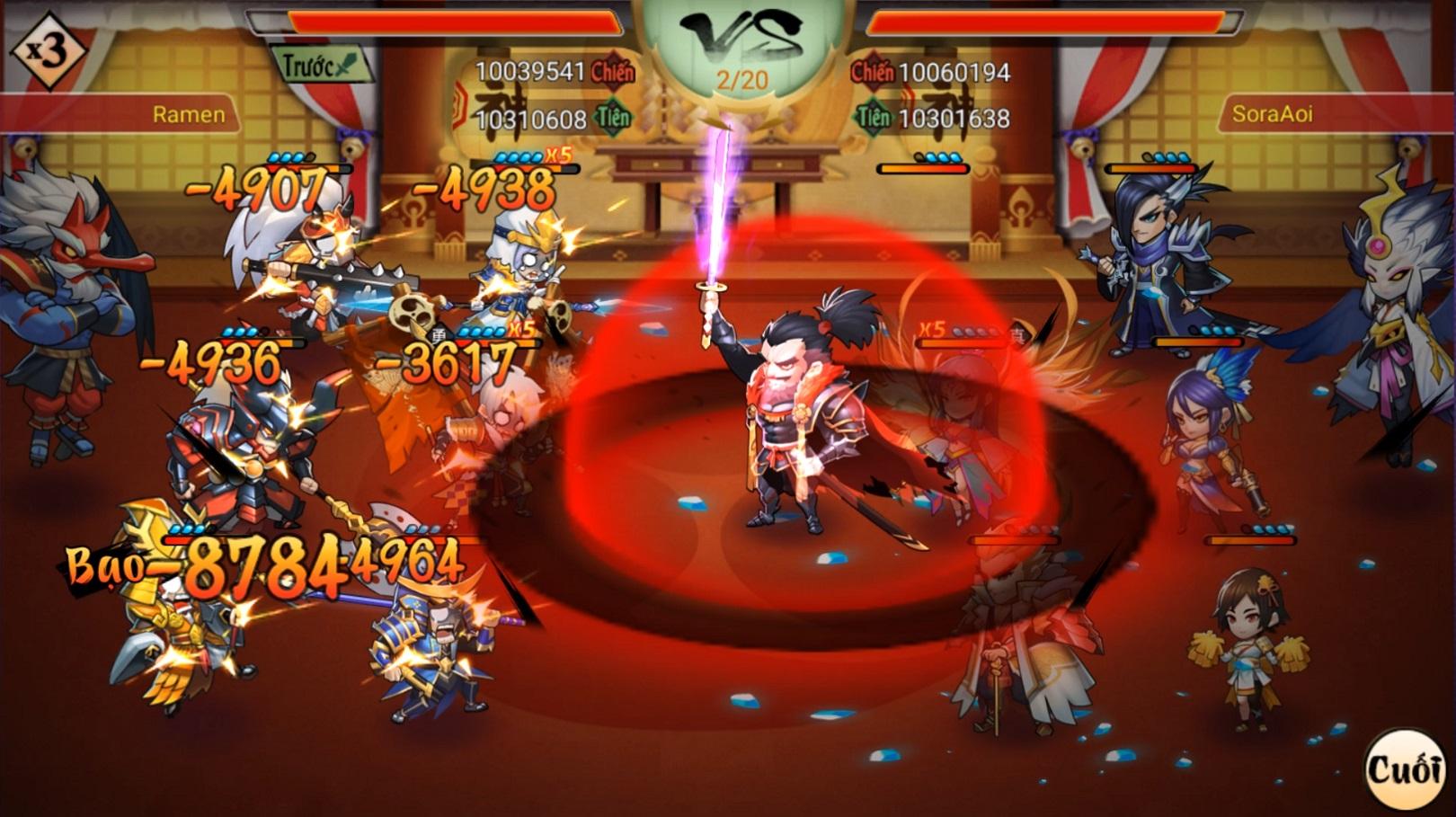 Nobunaga là một trong các tướng đỏ được game thủ rất yêu thích