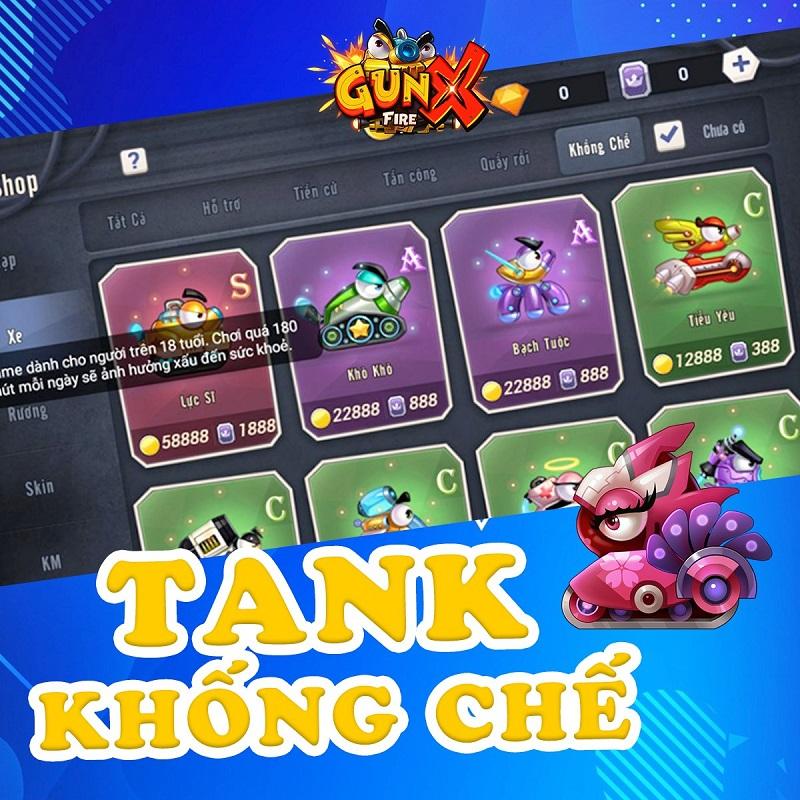 """Tank Khống chế có thể nói là một kho xe """"nguy hiểm"""" khi không chỉ tấn công  người chơi khác mà còn kèm cả các hiệu ứng debuff rút máu từ từ,..."""