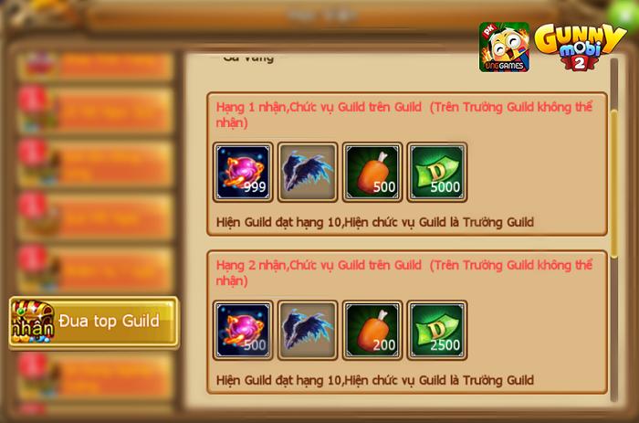 Hoạt động đua top Guilde hot nhất trong các hoạt động server mới