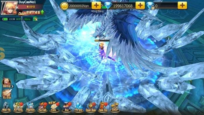 Chế độ PK Non-target cho phép người chơi tự do di chuyển, tránh né và kết hợp combo skill để ra đòn