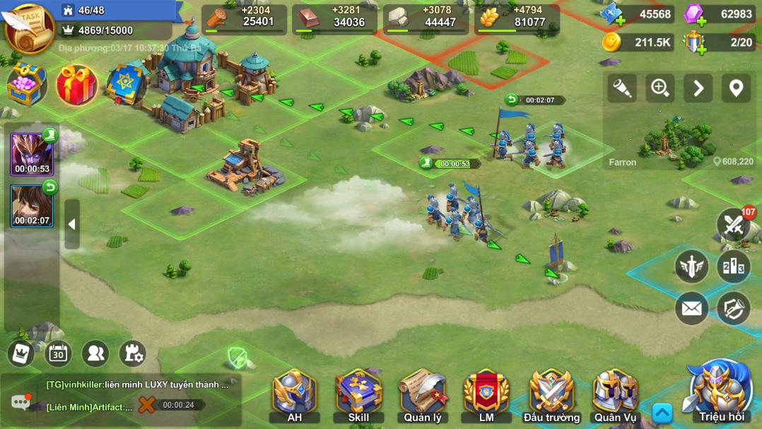 Nhiệm vụ chiếm đất hấp dẫn được khám phá trong game