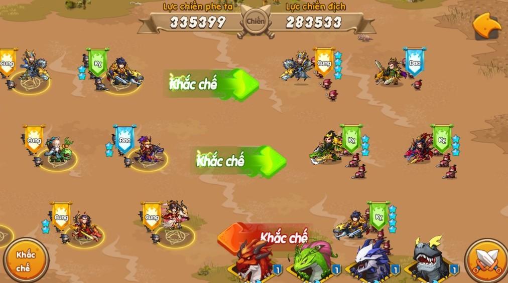 Lôi Đài cho phép game thủ tự động phân bố vị trí chiến đấu