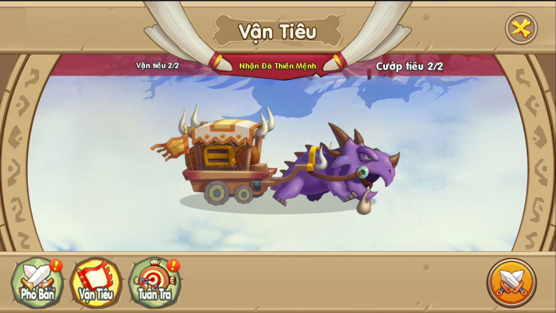 Cướp tiêu là một trong các hoạt động thu hút người chơi của Huấn Long VNG