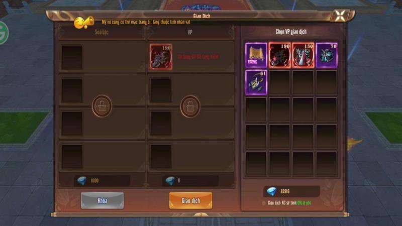 Tính năng giao dịch trực tiếp của Kiếm Động 3D là đặc sản nổi bật của tựa game này và thu hút cực nhiều game thủ chú ý.