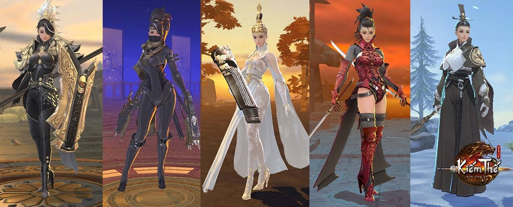 Tương tự như Kiếm Thế PC, Kiếm Thế Mobile xuất hiện với 5 môn phái tượng  trưng cho 5 hệ trong ngũ hành: Thiên Vương – Kim, Đường Môn – Mộc, ...