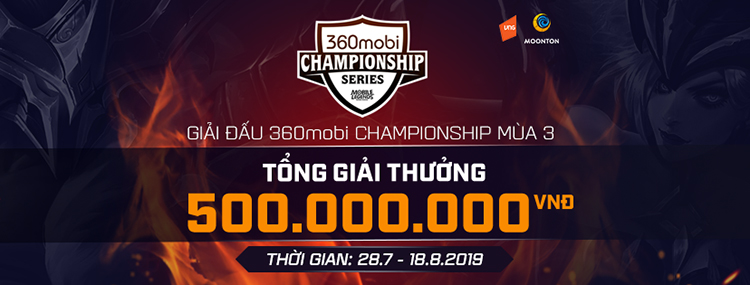 360mobi CHAMPIONSHIP Mùa 3 chính thức khởi tranh Pro League từ ngày 8/8. Tổng giải thưởng của mùa này lên đến 500 triệu VND cùng rất nhiều tặng phẩm trong game cũng như quà lưu niệm khác