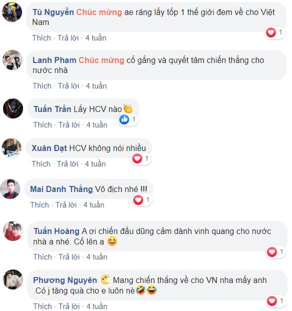 Và cũng kỳ vọng đại diện Mobile Legends: Bang Bang Việt Nam sẽ mang vinh quang về cho thể thao điện tử nước nhà, giúp bộ môn eSports được nhìn nhận chính thống và có nhiều chính sách hợp lý hơn