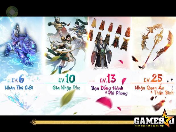 Khi nhân vật đạt cấp độ 25 trong Phi Long Tại Thiên, tất cả tính năng trong game sẽ được khai mở