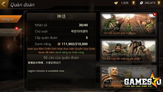 Một Quân Đoàn điển hình trong Dynasty Warriors: Unleashed