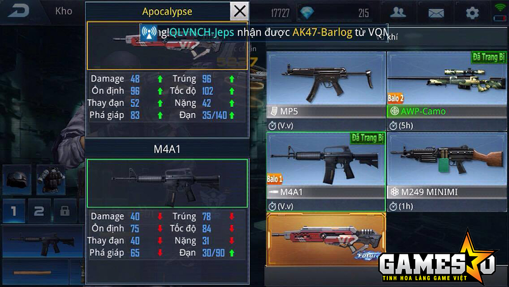"""Chênh lệch giữa hai khẩu súng trường VIP vs thường là không phải bàn cãi - cộp mác """"pay-to-win"""""""