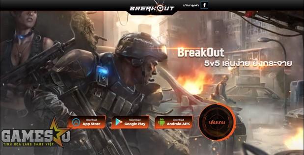 Trang chủ của BreakOut phiên bản Thái Lan