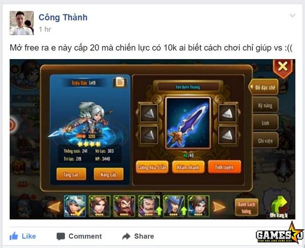 Đã có người chơi nhận được Danh Tướng Triệu Vân miễn phí chỉ sau ít giờ Tam Quốc GO ra mắt