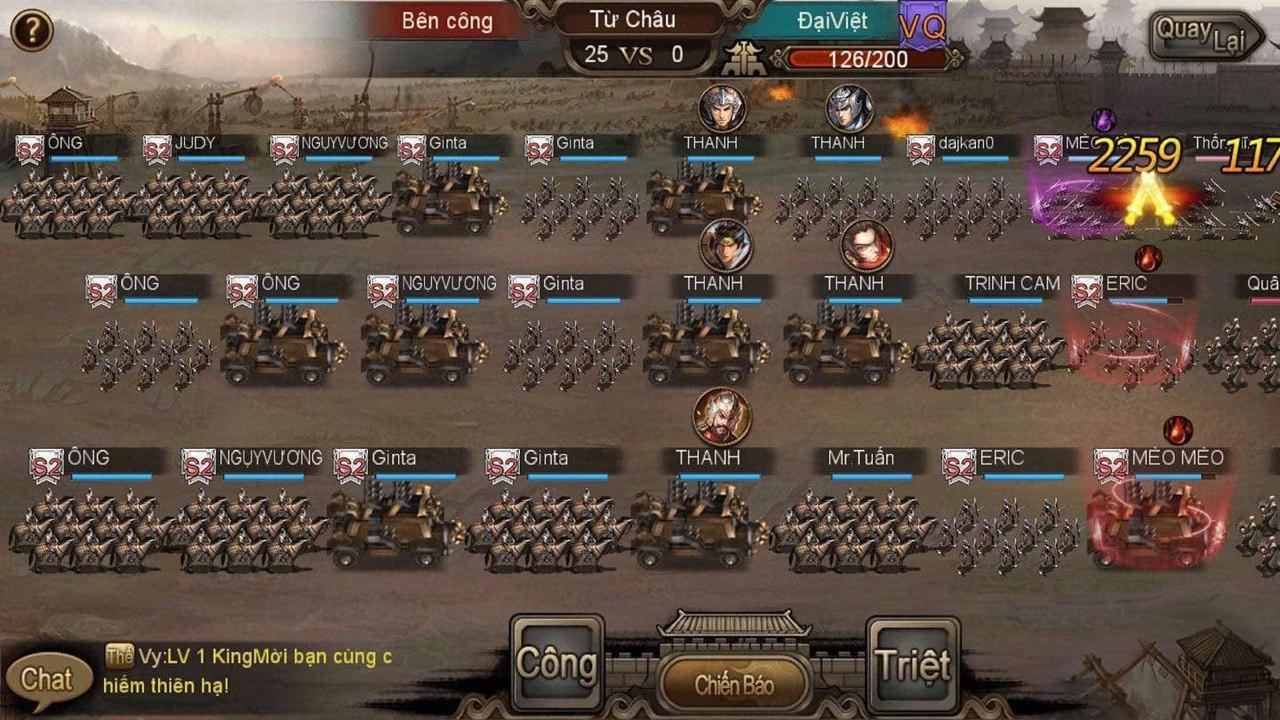 Tam Quốc Liệt Truyện khiến người chơi lưu lạc trong thế giới bình biến giữa 3 phe Nguỵ - Thục - Ngô.