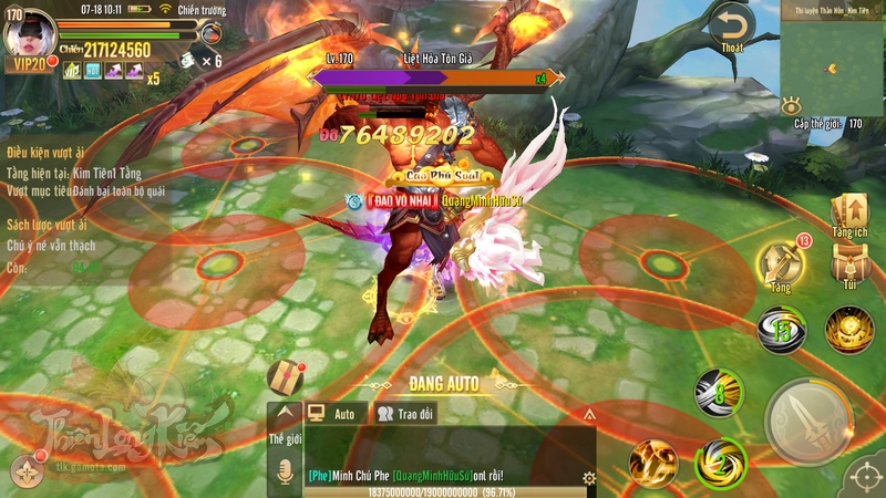 Với Thần Hồn, game thủ có thể mở ra phụ bản khiêu chiến Thần Hồn giúp thu thập nguyên luyện nâng cấp Thiên Phú, Công Phá để mở giới hạn Phi Thăng của mình.