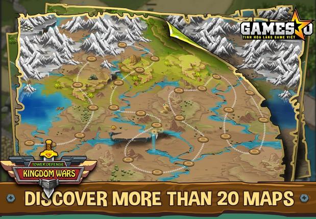 Hệ thống bản đồ trong game Tower Defense: Kingdom Wars