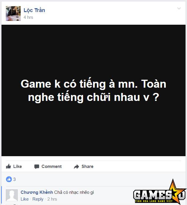 Ảnh chụp màn hình lời phản ánh của một người chơi Chinh Đồ 1 Mobile trên nhóm Facebook chính thức