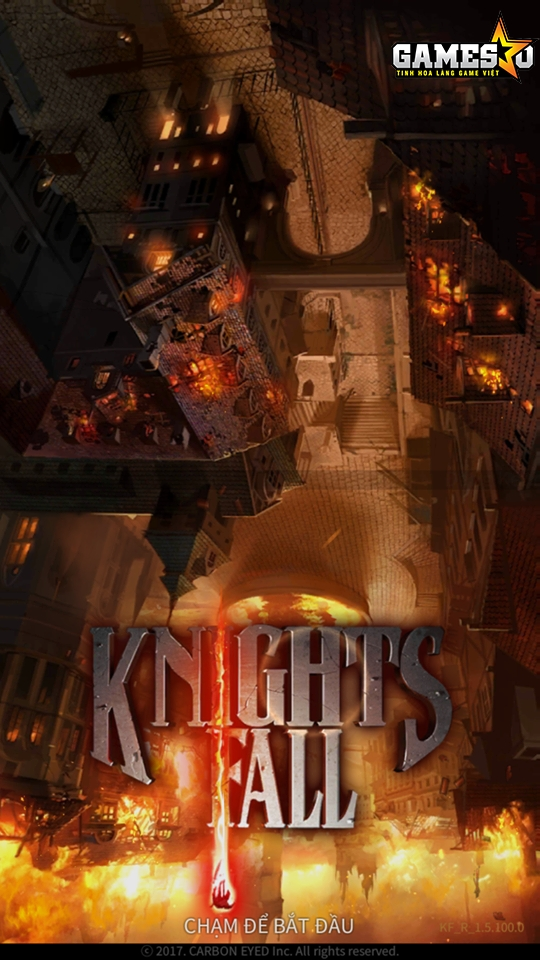 Lối chơi của Knights Fall chỉ xoay quanh hai thao tác là chạm và vuốt trên màn hình