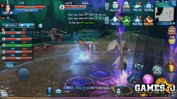 NPH Tru Tiên 3D lưu ý, người chơi nên đi làm nhiệm vụ hoặc train cấp độ cùng với đầy đủ năm người trong tổ đội