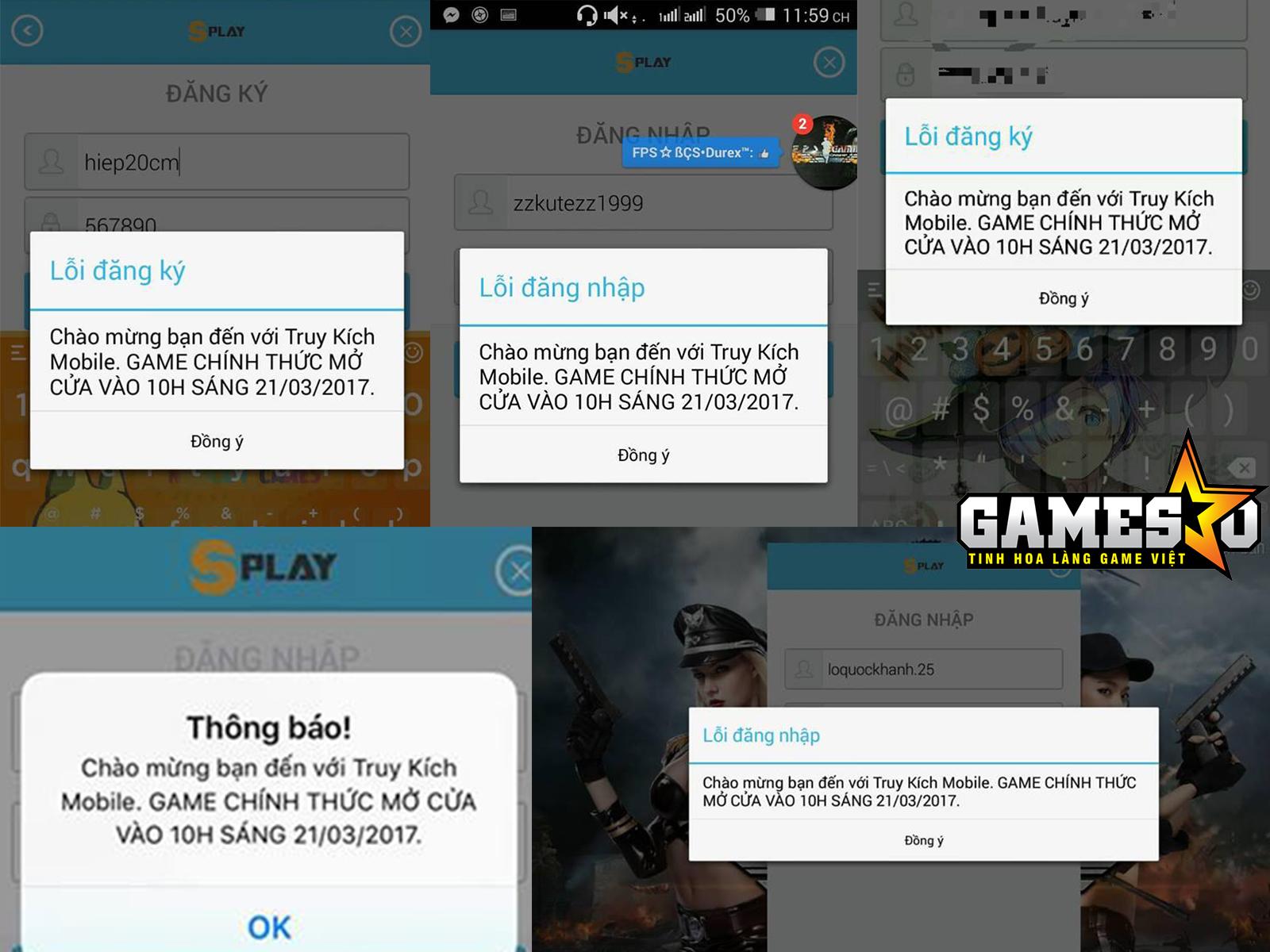 """Một loạt những """"bằng chứng"""" của người chơi cho thấy Truy Kích Mobile vẫn chưa cho phép đăng nhập và trải nghiệm game"""
