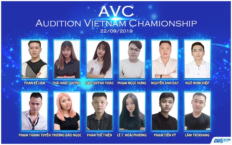 12 gương mặt xuất sắc đến từ 3 miền tham gia tranh giải vô địch quốc gia và TOP 6 VĐV có điểm cao nhất sẽ đại diện Việt Nam tham dự thi đấu giải Audition quốc tế!    4 VĐV của FC Hồ Chí Minh sẵn sàng bước vào trận tranh đấu    07 VĐV tại đầu cầu HN