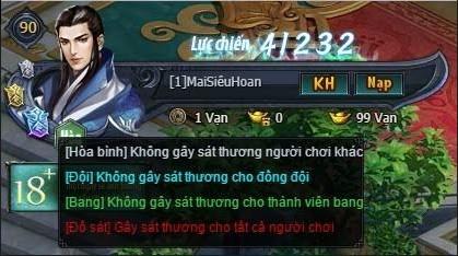 Các trạng thái PK trong webgame Võ Lâm Truyền Kỳ VNG