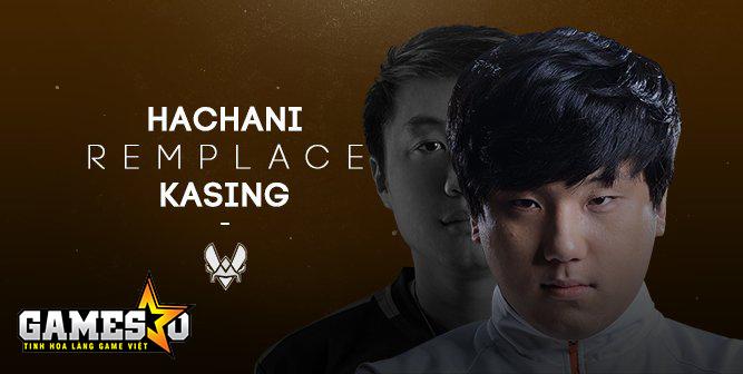 Hachani thay thế kaSing ở vị trí người chơi hỗ trợ trong đội hình Vitality mùa giải 2017