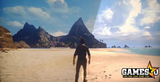 So sánh chất lượng hiển thị hình ảnh của PS4 và PS4 Pro khi trải nghiệm tựa game Uncharted 4: A Thief's End