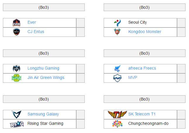 Sáu trận đấu của vòng loại sẽ diễn ra trong vòng ba ngày từ 09-11/11