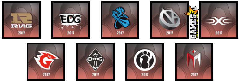 LPL Trung Quốc: Royal Never Give Up, Edward Gaming, NewBee, Vici Gaming, Snake Esports, Game Talents, OMG, Invictus Gaming, I May