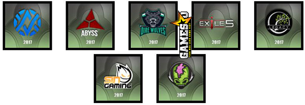OCE: Avant Garde, Abyss Esports, Dire Wolves, Exile5, Legacy Esports. Sin Gaming, Tainted Minds