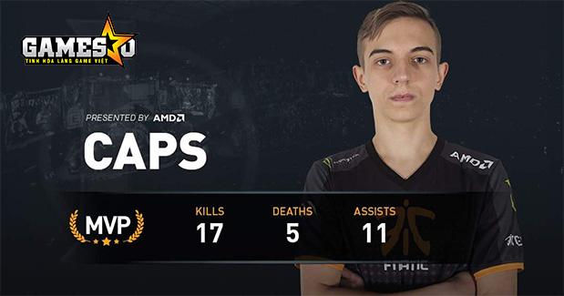Tân binh Caps đang để lại ít nhiều dấu ấn sau hai trận đấu ra mắt Fnatic