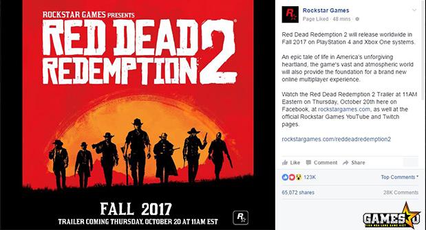 Red Dead Redemption 2 ấn định ngày ra mắt vào Mùa Thu năm sau - ảnh 1