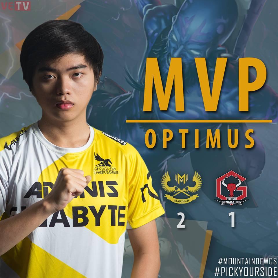 Optimus lần đầu được BTC dành tặng danh hiệu MVP sau màn trình diễn ấn tượng ở Ván 3