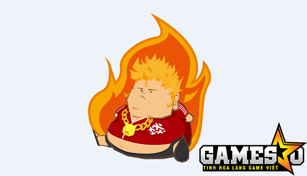 Fireball sử dụng logo là một chàng trai mập ú