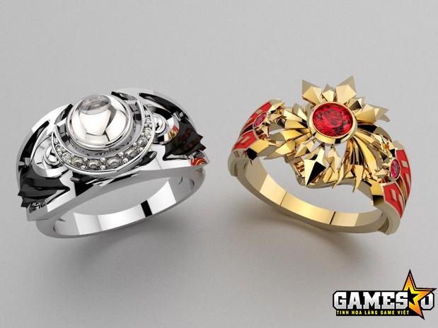 Hai mẫu nhẫn của Diana và Leona