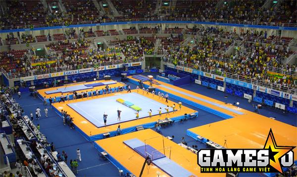 Bên trong nhà thi đấu Jeunesse Arena, nơi diễn ra vòng bảng và vòng đấu loại trực tiếp của MSI 2017