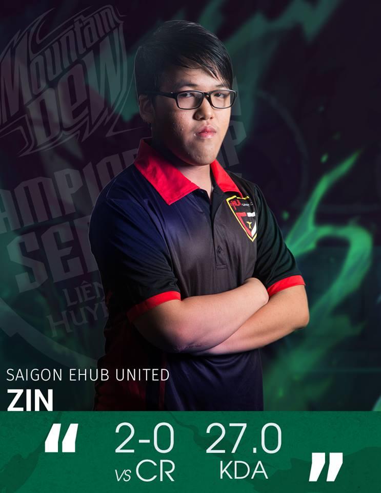 Zin chuyển tới khoác áo eHUB sau khi 269 tan rã ở thời điểm vòng bảng MDCS Mùa Hè 2016 khép lại
