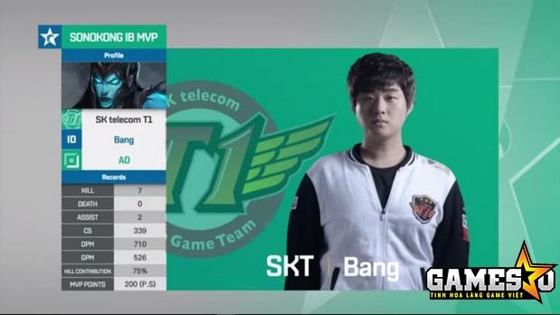 Kalista của Bang tiếp tục tỏa sáng rực rỡ ở trận đấu gặp Samsung