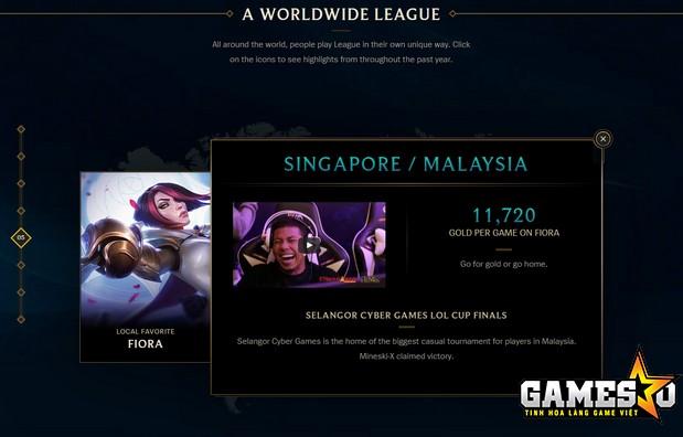 Hai máy chủ Singapore & Malaysia là rất chuộng vị tướng Fiora