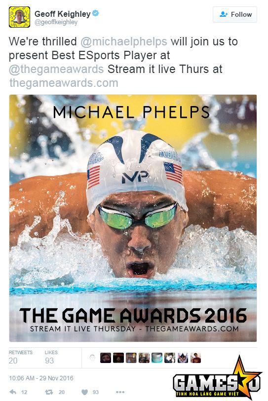 Geof Keighley, chủ xị của Lễ trao giải Game Awards 2016, đã xác nhận thông tin
