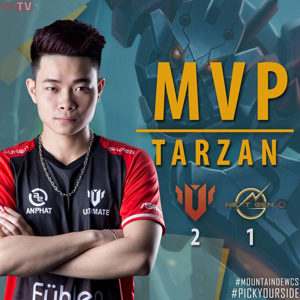 Tarzan giành MVP ở trận đấu thứ hai tại vòng bảng MDCS Mùa Xuân 2017 trong lần quay trở lại khoác áo UTM