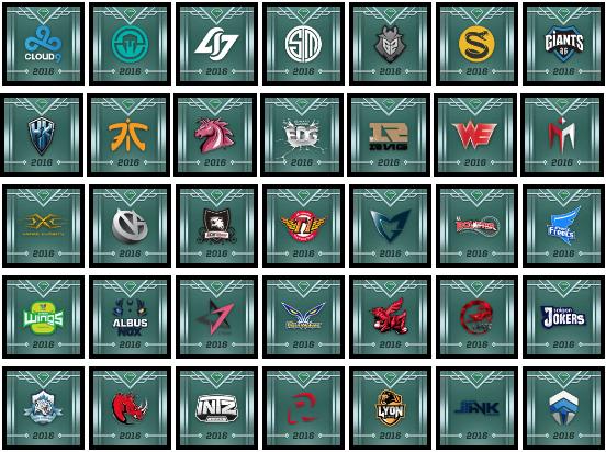 Các biểu tượng anh hùng của 35 đội tuyển đang được thử nghiệm trên máy chủ PBE.
