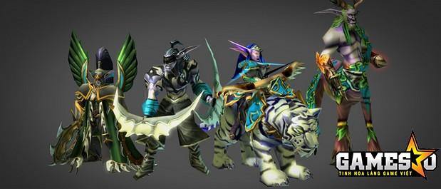 Những hero thuộc tộc Night Elf trong Warcraft III