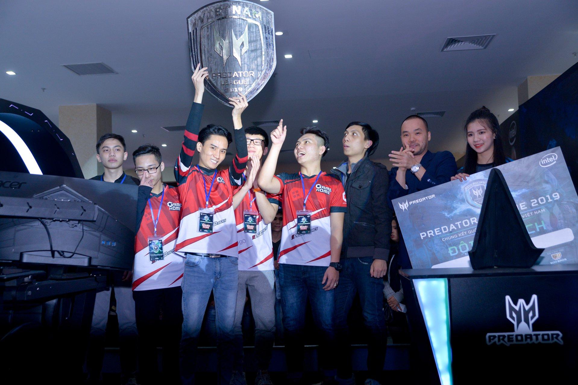 GameHome - nhà vô địch giải đấu Predator League 2019 vòng loại Việt Nam