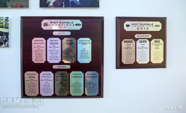 Riot dành riêng một góc trưng bày những kỷ vật lưu niệm của họ