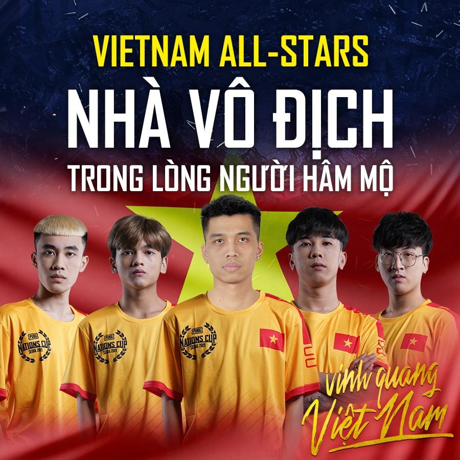 Việt Nam All-Stars đem vinh quang về cho PUBG nước nhà